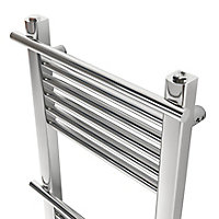 GoodHome Solna 181W Chrome plated Towel warmer (H)700mm (W)400mm