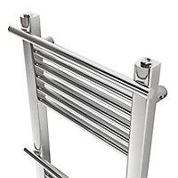 GoodHome Solna 313W Chrome plated Towel warmer (H)1100mm (W)500mm