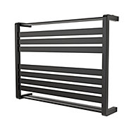 GoodHome Loreto 535W Anthracite Towel warmer (H)600mm (W)800mm