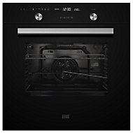 Cooke & Lewis CLPYBLa Black Built-in Electric Single Pyrolytic Oven