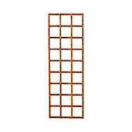 Traditional Wooden Square Trellis panel (H)1.83m(W)0.6m