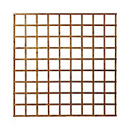 Traditional Wooden Square Trellis panel (H)1.83m(W)1.83m