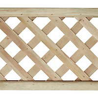 Wooden Rectangle Trellis (H)1.83m(W)0.3m