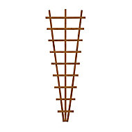 Wooden Fan Trellis (H)1.83m(W)0.66m