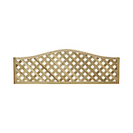 Woodbury Wooden Lattice Trellis panel (H)0.6m(W)1.8m