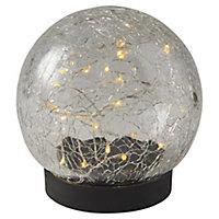 Matt Black Solar-powered LED Table lamp
