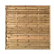 Blooma Arve Pine Fence panel (W)1.8 m (H)1.8m
