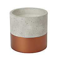 Copper Terracotta Dipped Plant pot (Dia)14cm