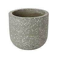 Griffin Speckled Plant pot (Dia)16cm