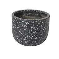 Charcoal Speckled Plant pot (Dia)21.2cm