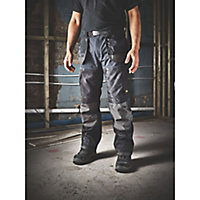 "Site Chinook Black & Grey Men's Trousers, W34"" L34"""