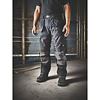 "Site Chinook Black & Grey Men's Trousers, W36"" L34"""