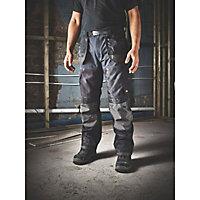 "Site Chinook Black & Grey Men's Trousers, W40"" L34"""