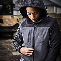 Site Kardal Black/Grey Water-resistant Women's Softshell jacket, Small 8-10