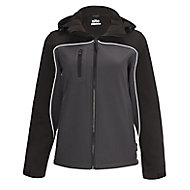 Site Kardal Black/Grey Water-resistant Women's Softshell jacket, Medium 12-14