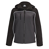Site Kardal Black/Grey Water-resistant Women's Softshell jacket, Large 16-18