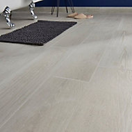 Pine wood White Matt Wood effect Porcelain Floor Tile Sample