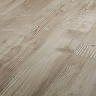Pine wood Greige Matt Wood effect Porcelain Floor Tile Sample