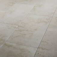 Reclaimed Off white Matt Concrete effect Porcelain Floor Tile Sample