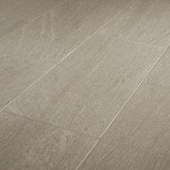Natural Greige Satin Stone effect Porcelain Floor Tile Sample