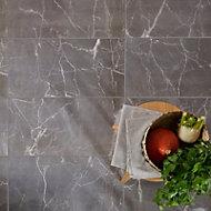 Elegance Silver Gloss Marble effect Porcelain Floor Tile Sample