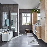 Konkrete Anthracite Matt Modern Concrete effect Porcelain Floor Tile Sample