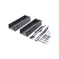 GoodHome Soto Matt Anthracite Kitchen drawer unit, 964mm