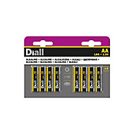 Diall Alkaline batteries Non rechargeable AA (LR6) Battery, Pack of 8