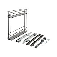 Pebre Matt Anthracite Soft close runners Universal Pull out storage, (H)530mm (W)107mm