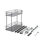 Pebre Matt Anthracite Soft close runners Universal Pull out storage, (H)484mm (W)264mm