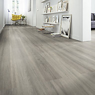 Zimba Oak effect Laminate flooring, 1.75m² Pack
