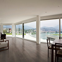 Tioga Dark oak effect Laminate flooring, 1.75m² Pack