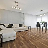 Rosa Walnut effect Laminate flooring, 2m² Pack