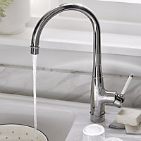 GoodHome Filbert Chrome effect Kitchen Side lever Mixer tap