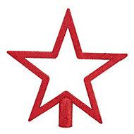 Red Glitter effect Star Tree topper