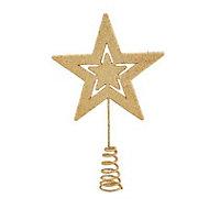 Gold Glitter effect Star Tree topper