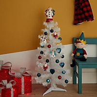 Red Matt 2D Santa Decoration