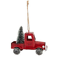 Red Distressed effect Rustic truck Decoration
