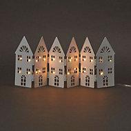Warm white LED Folding house Silhouette