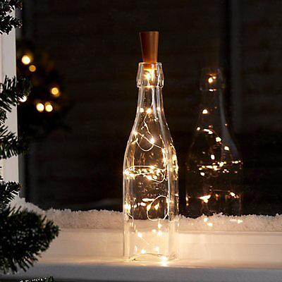 Warm white LED Bottle stopper wire light Decoration