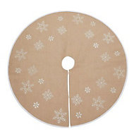 Hessian snowflake Christmas tree skirt