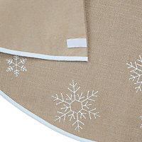 Hessian snowflake Christmas tree skirt