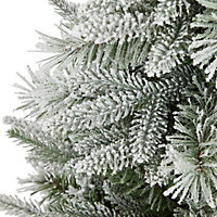3ft Tarnaby Flocked potted Artificial Christmas tree