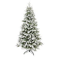 6ft Corbier Flocked Artificial Christmas tree