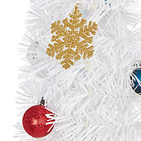 6ft Trevalli White pop up Pre-lit artificial Christmas tree