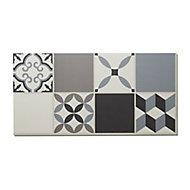 Jazy Grey Mosaic effect Luxury vinyl click Flooring Sample