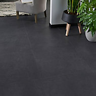 Jazy Slate Tile effect Luxury vinyl click Flooring Sample
