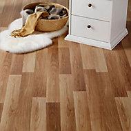 GoodHome Goldcoast Natural Oak effect Laminate flooring, Sample