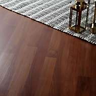 Geraldton Natural Walnut effect Laminate Flooring Sample