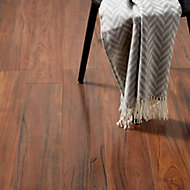 GoodHome Bannerton Brown Mahogany effect Laminate flooring, Sample